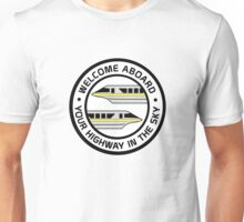 MonorailHighwayYellow Unisex T-Shirt