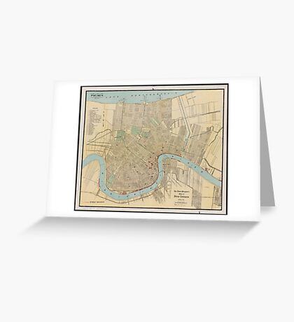 New Orleans Map Greeting Card