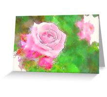 Pink Roses in Anzures 1 Serene Greeting Card