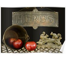 Apples and Herbs Poster