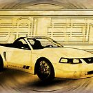 Mustang Saleen Convertible Automotive Art by ChasSinklier