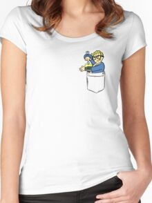 PipBoy Pocket. Women's Fitted Scoop T-Shirt