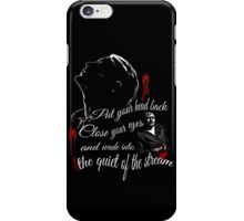 wade into the quiet of the stream - mizumono quote iPhone Case/Skin