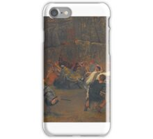Sir Lawrence Alma-Tadema, O.M., R.A.  GUNTHRAM BOSE AND HIS DAUGHTERS, A.D. , THE AMBUSCADE iPhone Case/Skin