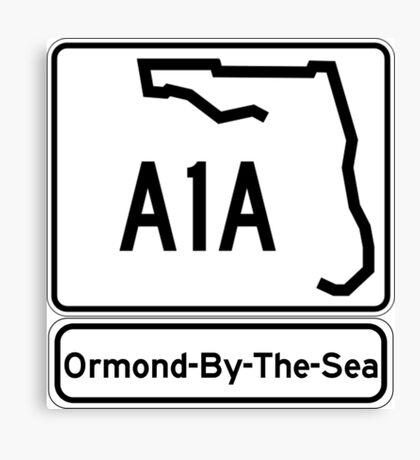 A1A - Ormond-By-The-Sea Canvas Print
