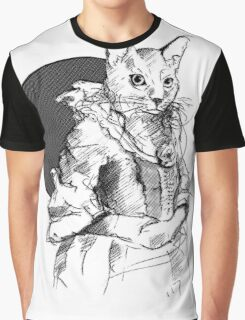 Victorian Cat Graphic T-Shirt