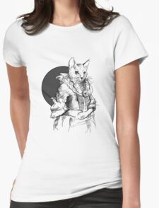 Victorian Cat Womens Fitted T-Shirt