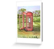 Forgotten Phone Booth Greeting Card