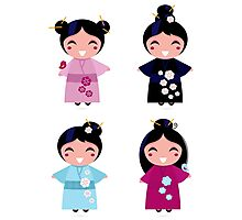 Little japan girls collection : Geisha original Designers Collection Photographic Print