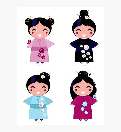 Little japan girls collection : Geisha original Designers Collection Photographic Print