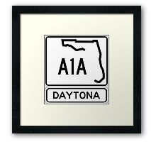 A1A - Daytona! The World's Fastest Beach! Framed Print