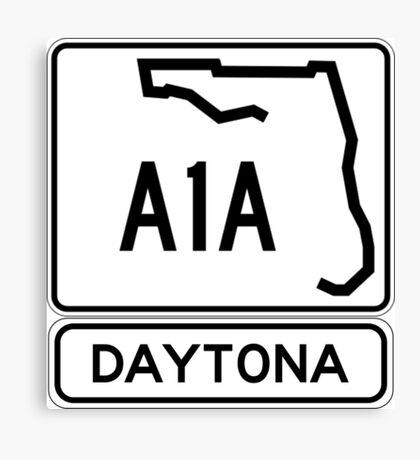 A1A - Daytona! The World's Fastest Beach! Canvas Print