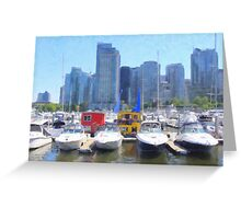 Coal Harbor Houseboats Greeting Card