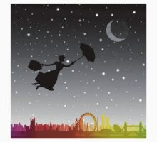 magical mary poppins Over London Kids Tee