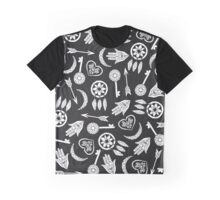 Modern Black and White Popular Symbols Graphic T-Shirt