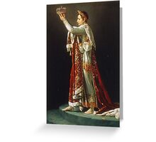 Jacques-Louis David - Portrait of Napoleon from David s Coronation of the Emperor and the Empress Greeting Card