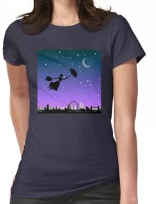 magical mary poppins Over London Womens Fitted T-Shirt