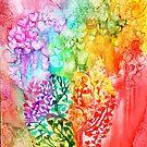 Rainbow Heart Tree by Carol  Cavalaris