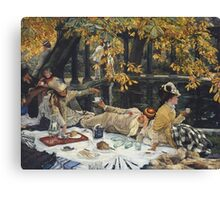 James Tissot - Holyday (1876)  Canvas Print