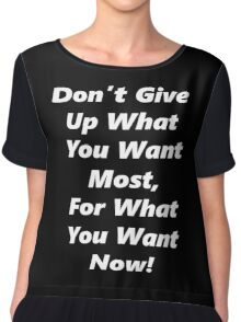 Give Up Now - White Chiffon Top
