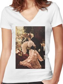 James Tissot - Political Woman  Women's Fitted V-Neck T-Shirt