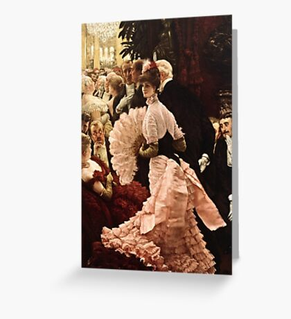 James Tissot - Political Woman  Greeting Card