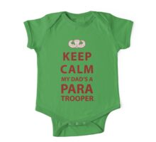 KEEP CALM MY DAD'S A PARATROOPER One Piece - Short Sleeve