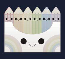 kawaii pastel colored pencil box Kids Tee