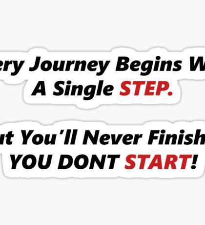 Just Start, Motivation Sticker