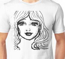 Black and White Girl Unisex T-Shirt