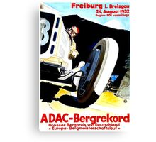 """FREIBURG GRAND PRIX"" Vintage Auto Racing Print Canvas Print"