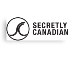 Secretly Canadian logo and title Canvas Print
