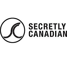 Secretly Canadian logo and title Photographic Print