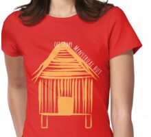 Off To My Menstrual Hut Womens Fitted T-Shirt