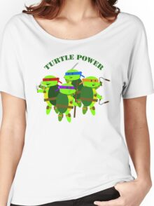 Turtle Power TMNT Women's Relaxed Fit T-Shirt