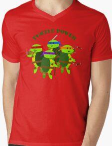 Turtle Power TMNT Mens V-Neck T-Shirt