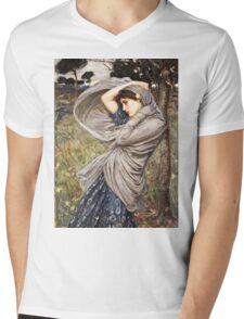 John William Waterhouse - Boreas  Mens V-Neck T-Shirt