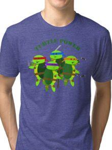 TMNT turtle power Tri-blend T-Shirt