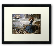 John William Waterhouse - Miranda - The Tempest  Framed Print