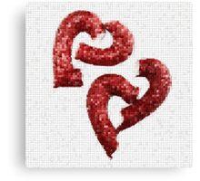 Broken Heart Mosaic Canvas Print