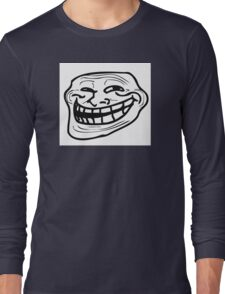 troll face / cool face meme Long Sleeve T-Shirt