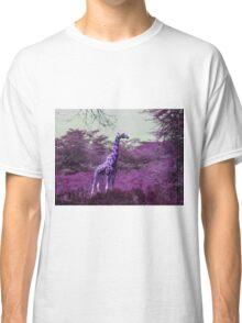 Rothschild Giraffe in Purple Classic T-Shirt