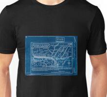 0277 Railroad Maps Hannibal St Joseph Railway Inverted Unisex T-Shirt