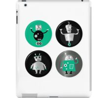 Happy robots friends badges - Designers Special Edition in our Shop iPad Case/Skin
