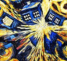 Tardis by Van Gogh - DW by Mellark90