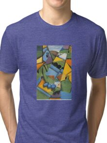 Juan Gris - Landscape With House At Ceret 1913 Tri-blend T-Shirt