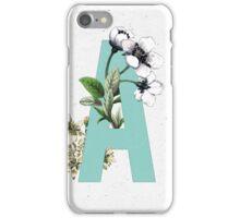 Botanical Alphabet - Letter 'A' iPhone Case/Skin