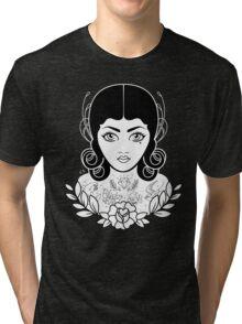 Flapper in black Tri-blend T-Shirt