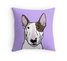 Lola Bull Terrier Friend Of Freddie Throw Pillow