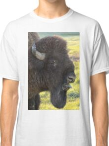 Bison Sticking Tongue Out  Classic T-Shirt